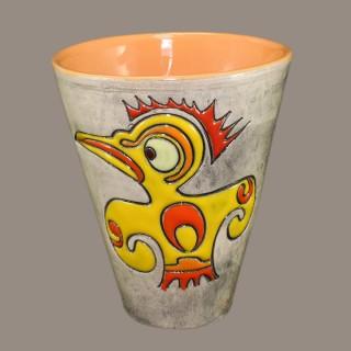 Angry chicken cone mug