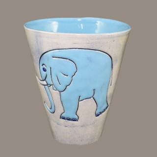 Blue Elephant - mug Mugs