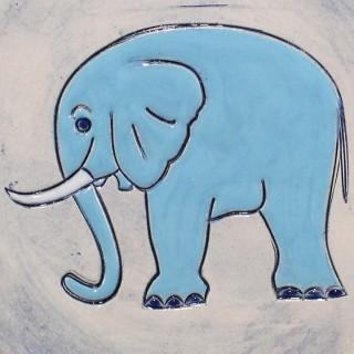 Blue Elephant - mug bell