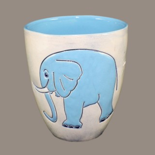 Blue Elephant - mug Mugs