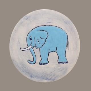 Blue Elephant - plate size S