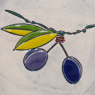 Blue Plums - plate size S