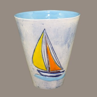 Mug with a Boat  Cups
