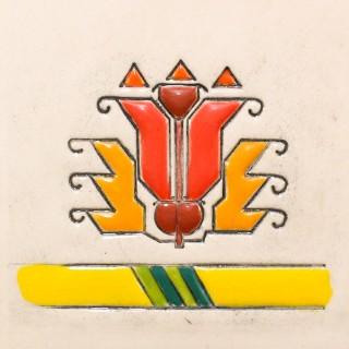 Bulgarian embroidery 3 cone mug
