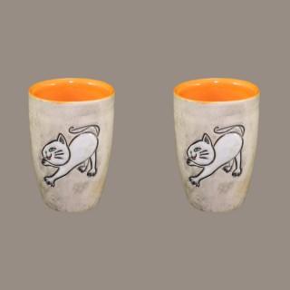 Cat 004 Ceramic big shot -Set