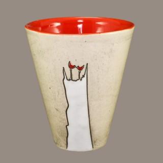Cat and Birds Mug Cups