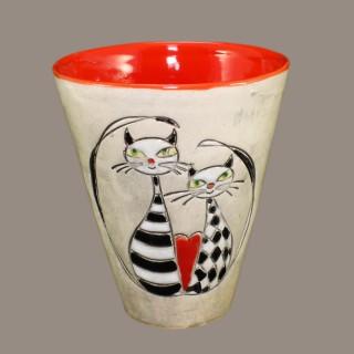 Cats in love cone mug
