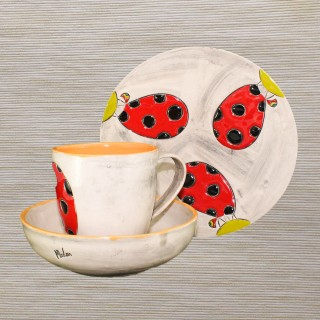 "Ceramic Set for Children 005 "" Ladybird """