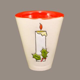 """"""" Christmas candle"""" Cone Mug"""