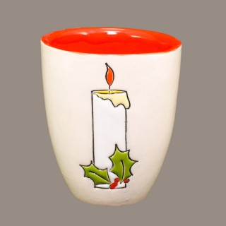 """ Christmas Candle"" Mug Type Bell"