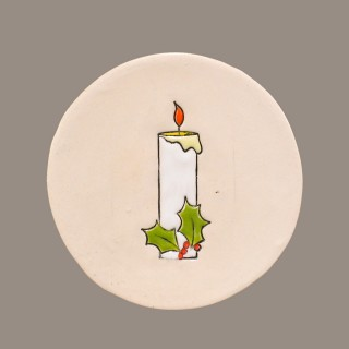 """ Christmas Candle "" Plate Size S"