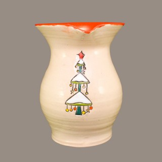 """ Christmas tree"" Wine jug"
