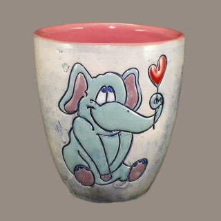 Elephant in love Mug