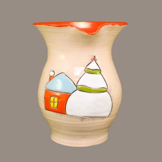 """ House in the snow"" Wine jug"
