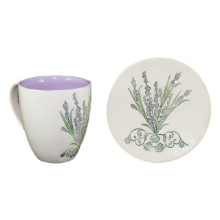 Lavander - LC2P1- Mug type bell and plate - size S