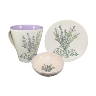 Lavender LCP1B1 - Set - Cone Mug, plate and bowl