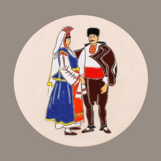 Maiden And Swain Plate Model 2