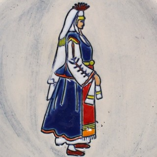 Maiden With Blue Garb - plate size S