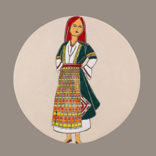 MAIDEN WITH BULGARIAN GARB MODEL 1