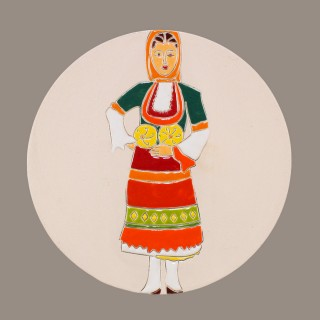 Maiden  with  Bulgarian garb Model 2