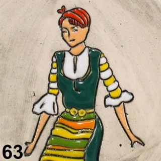 Maiden with green garb