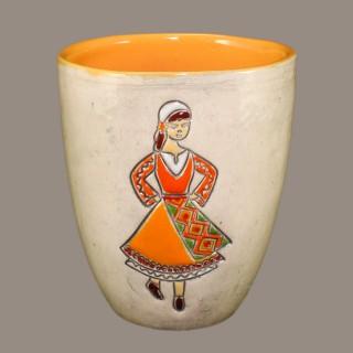 Maiden with orange garb Mugs
