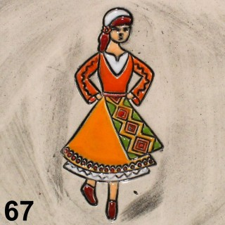 Maiden with orange garb