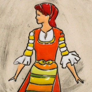 Maiden with red garb Mugs