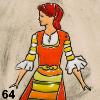Maiden with red garb