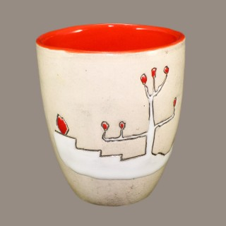 Mug with landscape drawing Cups