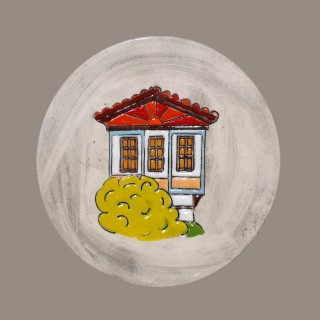 Old Bulgarian House - plate size S -model 3