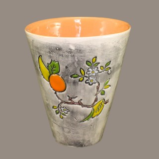 Orange tree branch cone mug