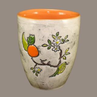 Orange tree branch - mug type bell