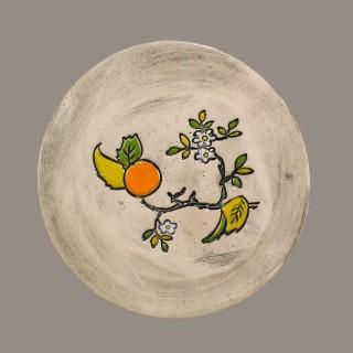 Orange tree branch - plate size S