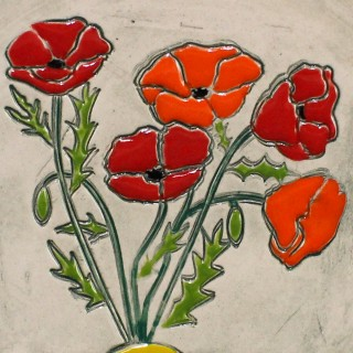 Poppies - mug bell