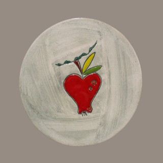 Red Apple - plate - size S