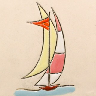 Sailboat 3 - plate size S