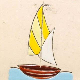 Sailboat 4 - plate size S