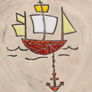 Sailing ship - plate size S