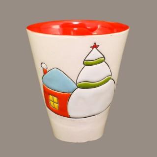 """""""Snow house""""  Cone Mug"""