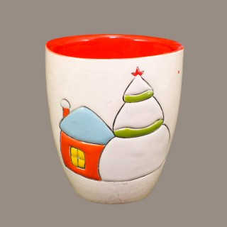 """ Snow house"" Mug type Bell"