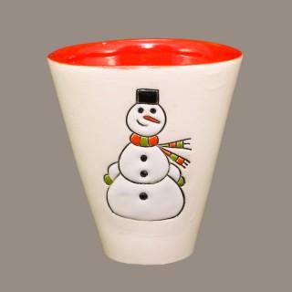 """"""" Snow men"""" Cone Mug"""