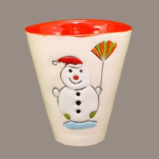 """Snowmen"" Cone Mug"