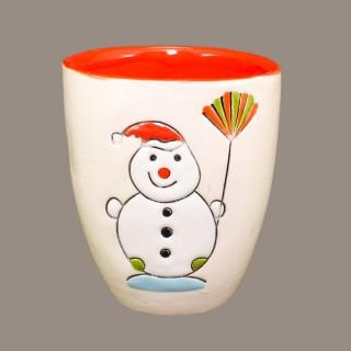 """ Snowmen"" Mug type Bell"