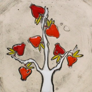 The Apple Tree - plate size S