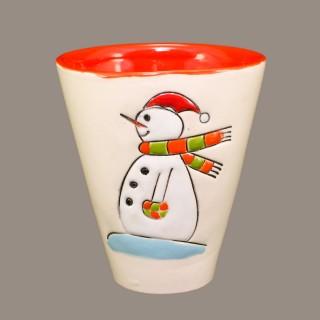 """ The Snowmen"" Cone Mug"