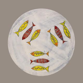 Three fish 061 - Plate Size L