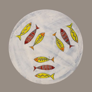 Three fish 061 Plate Size M