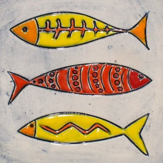 Three Fish - plate size S