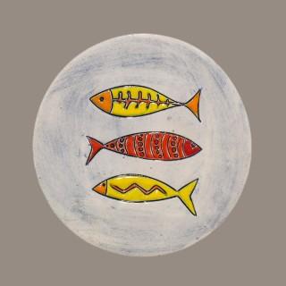 Three Fish - plate size S